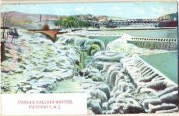 Np671: PASSAIC FALLS IN WINTER PATERSON, N.J. > Gand B 1909 - Paterson