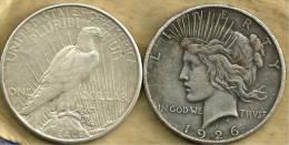 UNITED STATES USA $1 EAGLE BIRD FRONT PEACE BACK 1926S AG SILVER KM?  READ DESCRIPTION CAREFULLY !!! - Emissioni Federali