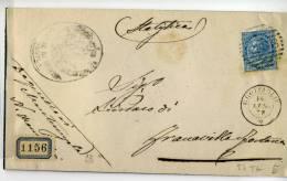 DB265-1878 Coperta Piego MONTEMESOLA-FRANCAVILLA FONTANA V.GROTTAGLIE-NUMERALE SBARRE - Marcophilie