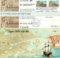 007 Carte Officielle Exposition Internationale Exhibition Canada 1984 France Emission Commune Bateaux Boat Cartier - Esposizioni Filateliche