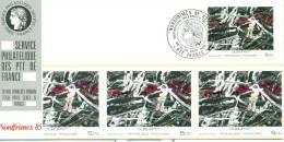 018 Carte Officielle Exposition Internationale Exhibition Nordfrimex 1985 France Tableau Kunst Art Dubuffet - Künste