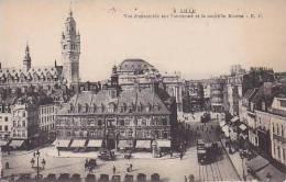 France Lille Vue d'ensemble sur l'ancienne et la nouvelle Bourse