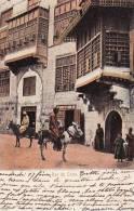 9627   LE CAIRE   Une Rue  Arabes Sur Des ânes   Circulée   1905 - Zonder Classificatie