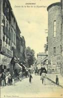 Cpa Narbonne, Entrée De La Rue De La République,animée - Narbonne