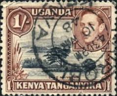Kenya U. T.; Scott:  #80, 1938, O/Used,  1 Timbre Seul/single Stamp. - Kenya, Uganda & Tanganyika
