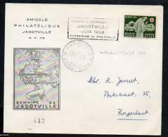 CONGO RED CROSS JADOTVILLE 1958 _ OBL PUBLICITAIRE _ RARE - Belgisch-Kongo