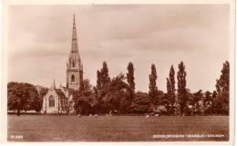 BODELWYDDAN (MARBLE) CHURCH - REAL PHOTO POSTCARD -  DENBIGHSHIRE - WALES - Denbighshire