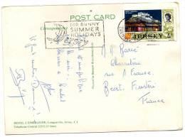 CPSM  -  JERSEY , HOTEL L' EMERAUDE , Longueville - Circulé En 1970, Voir 2 Scans - Jersey