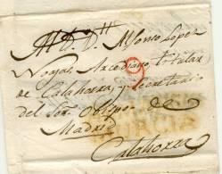 ENVUELTA DE DOBLE USO EN ALMANSA (CACERES) Y CALAHORRA (LOGROÑO) - ...-1850 Vorphilatelie