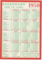 1950 - CALENDRIER ESPERANTO - Carte Postale - Calendriers