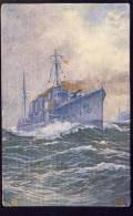 S. M.  ZERTÖRER Klar Zum Gefecht     Military     Ship  Schiffe       Old Postcard - Warships