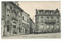 CPA - MANTES. Le Théatre Et La Rue De La Huse - Mantes La Jolie