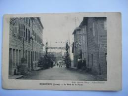 Ma Réf: 62-9-3.                     BUSSIERES     La Rue De La Poste. - Otros Municipios