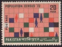 PAKISTAN 1972 MNH S.G 337 CENTENARY OF POPULATION CENSUS, CENSUS CHART - Pakistan