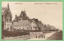 14 LION-sur-MER - La Promenade Et Les Villas - Autres Communes