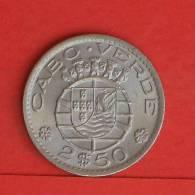 CAPE VERDE  2,5  ESCUDOS  1967   KM# 9  -    (695) - Cap Verde