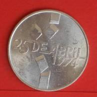 PORTUGAL  100  ESCUDOS  1976  Silver Coin  KM# 603  -    (709) - Portugal