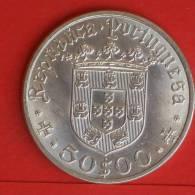 PORTUGAL  50  ESCUDOS  1968 Silver Coin   KM# 593  -    (711) - Portugal