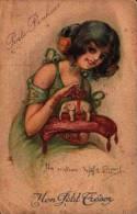 Illustrateur J-Em Dupuis - Elephant Femme Porte Bonheur, Mon Petit Trèsor - Elephants
