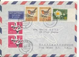 Germany Air Mail Cover Sent To USA Rastatt 14-10-1957 - [7] Federal Republic