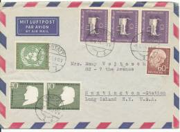 Germany Air Mail Cover Sent To USA Rastatt 9-4-1956 Good Stamped - [7] Federal Republic