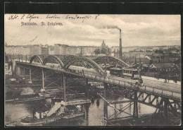 CPA Stockholm, St. Eriksbron, Brücke Mit Strassenbahn - Strassenbahnen