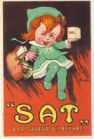 Carte Publicitaire - S.A.T. - A La Saveur Du Beurre - Publicité