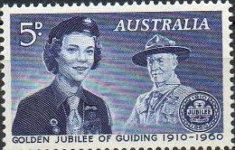 Australia 1960 5d Girl Guide And Baden-Powell MNH - 1952-65 Elizabeth II : Pre-Decimals