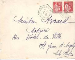CHARENTE INFERIEURE - Cachet Hexagonal Pointillé De PRIGNAC - Postmark Collection (Covers)