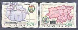 Venezuela 1971 Mi 1870-1871 Mnh - Crests, Maps - Venezuela