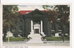 WACO  40481  PUBLIC LIBRARY TEXAS - Waco