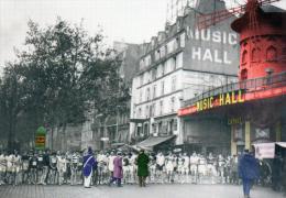 D 75.  . PARIS) PARIS CHROMO.championnat De La Vie Chère: Départ Devant Le Moulin Rouge(1936). - Places, Squares