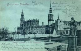 Deutschland - Dresden - Königliches Schloss U. Kath. Hofkirche - Denkmal Maria V. Weber - 1900 - Dresden