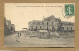79  ARGENTON -CHATEAU   ECOLE  SUPERIEURE  DE  JEUNES FILLES  ET  AVENUE CAMILLE JOUFFRAULT - Argenton Chateau