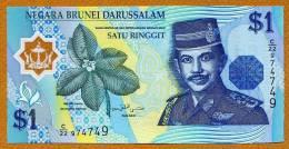 "1 Dollar    ""BRUNEI""        1996    Polymer  UNC    BC73 - Brunei"