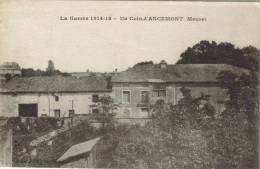 CPA ANCEMONT (Meuse) - Guerre De 1914 - 18 : Un Coin D'Ancemont - France