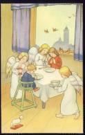 Angel     Old Postcard  Children  Kids  Christianity - Angels