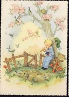 Sidned: RAA    Old Postcard  Children  Kids - Children