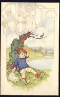 Sidned: RAA    Old Postcard  Children  Kids  Christianity - Children