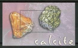 2001 Grenada Calcite Minerali Minerals Minèraux Block MNH** Fo180 - Minerals