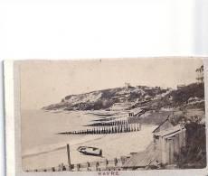 BELLE PHOTO ANCIENNE DU HAVRE  (PLAGE,BARQUE,COLLINE) VERS 1910, PEUT- ÊTRE ANTERIEURE - Lieux