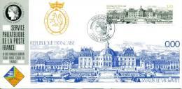 058 Carte Officielle Exposition Internationale Exhibition Sindelfingen 1989 France FDC Château De Vaux Le Vicomte - Châteaux