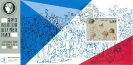 060 Carte Officielle Exposition Internationale Exhibition Washington 1989 France Revolution Française Jeu De Paume David - Esposizioni Filateliche