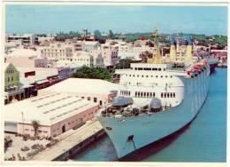 Amérique Antilles Bermuda  Cruise Ship And Downtown Bermuda  Non Circulé état Moyen - Bermudes
