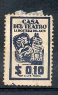 CASA DEL TEATRO - LA HOSTERIA DEL ARTE VIGNETTE LABEL VIÑETA BUENOS AIRES REPUBLICA ARGENTINA RARISIME THEATER THEATRE - Fantasie Vignetten