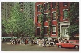GREENWICH VILLAGE NY -STREET SCENE 1964 - ART EXHIBITION - NEW YORK Vintage Postcard  [c3267] - New York City