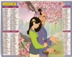 ALMANACH  DU  FACTEUR  1999   Vosges.     Mulan   /   La Petite Sirène. - Calendriers