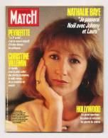 Paris Match 1961 26/12/1986 Nathalie Baye Avec Johnny Hallyday, La Magie D'hollywood, Affaire Peyrefitte - Gente