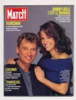 Paris Match 2014 1/1/1988 Johnny Hallyday Mariage, Guesch Patti, Les Feuilletons Tv - Gente