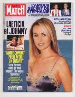 Paris Match 2702 8/3/2001 JOHNNY HALLYDAY Et LAETICIA, Des Photos De Paris, Afghanistan - Gente